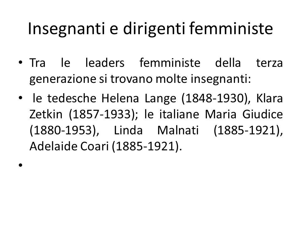 Insegnanti e dirigenti femministe