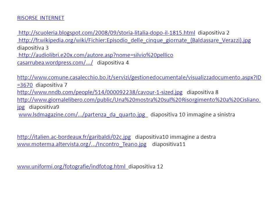 RISORSE INTERNET http://scuoleria. blogspot