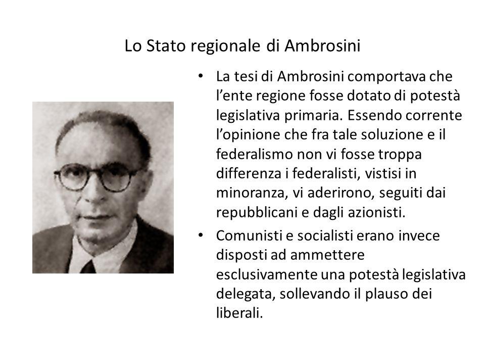 Lo Stato regionale di Ambrosini