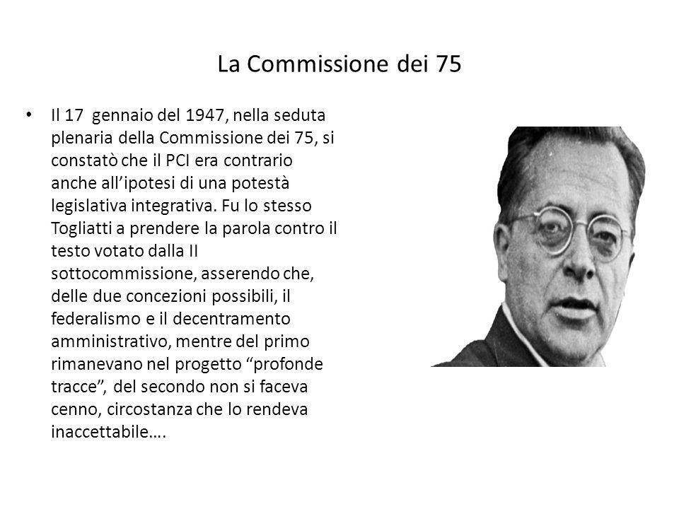 La Commissione dei 75