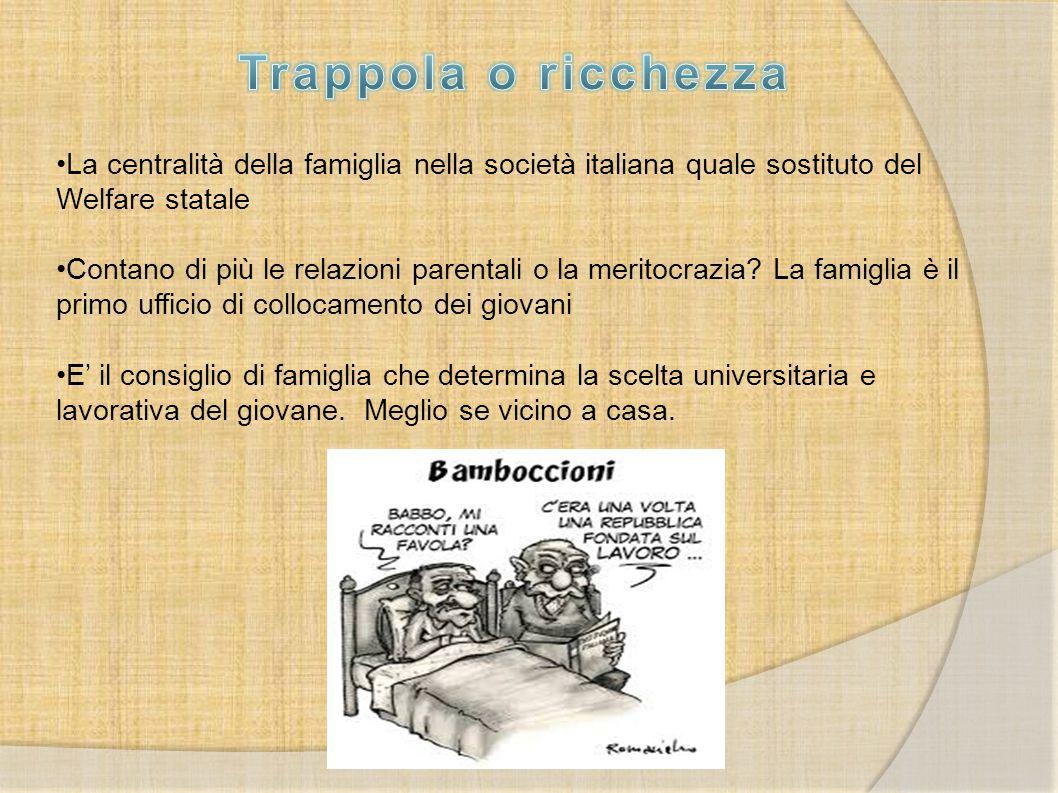 Trappola o ricchezza La centralità della famiglia nella società italiana quale sostituto del Welfare statale.