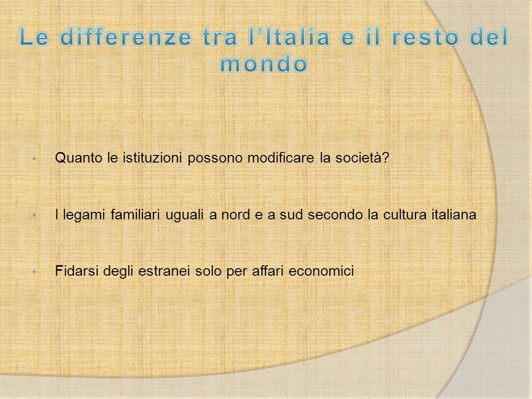 Le differenze tra l'Italia e il resto del mondo