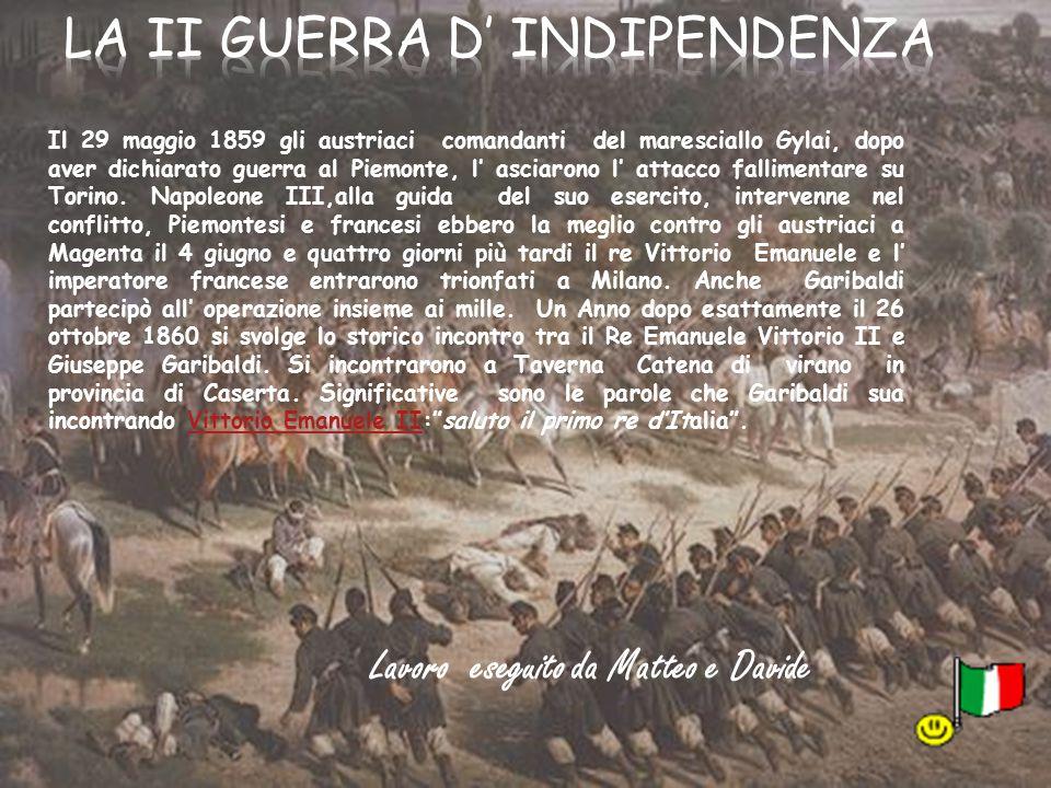 La II guerra d' indipendenza