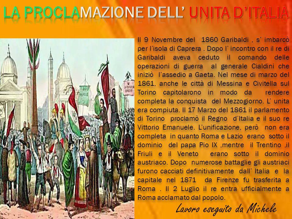 LA PROCLAMAZIONE DELL' UNITA D'ITALIA