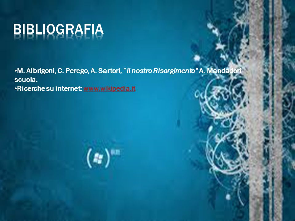 bibliografia M. Albrigoni, C. Perego, A. Sartori, Il nostro Risorgimento A.