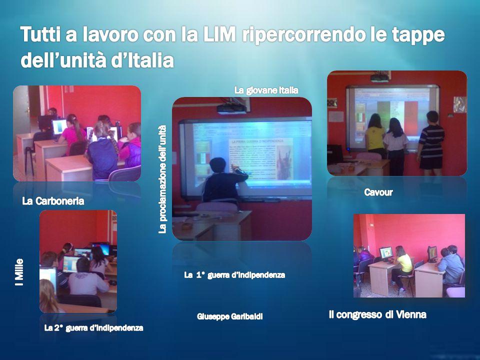 Tutti a lavoro con la LIM ripercorrendo le tappe dell'unità d'Italia