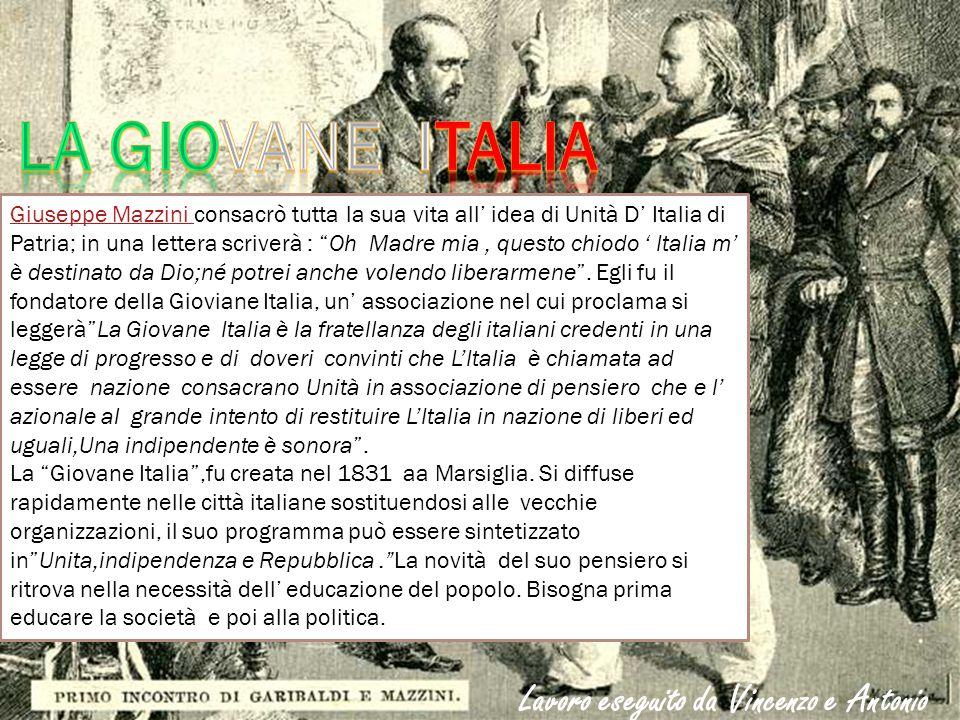 La giovane italia Lavoro eseguito da Vincenzo e Antonio