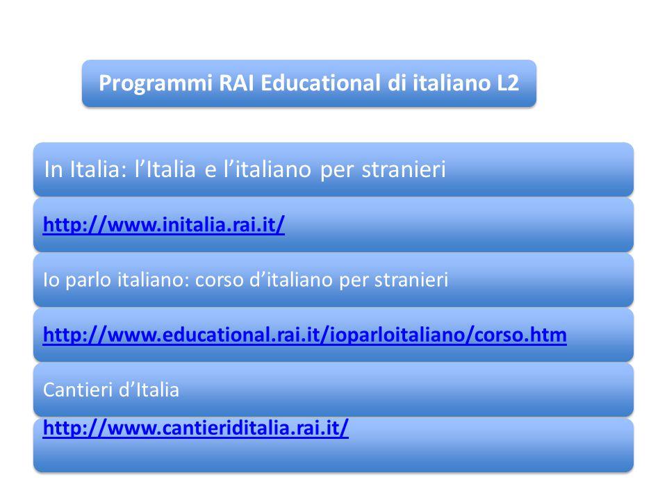 Programmi RAI Educational di italiano L2
