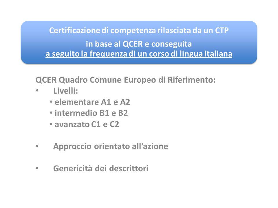 Certificazione di competenza rilasciata da un CTP