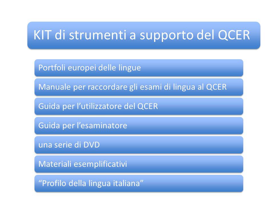 KIT di strumenti a supporto del QCER