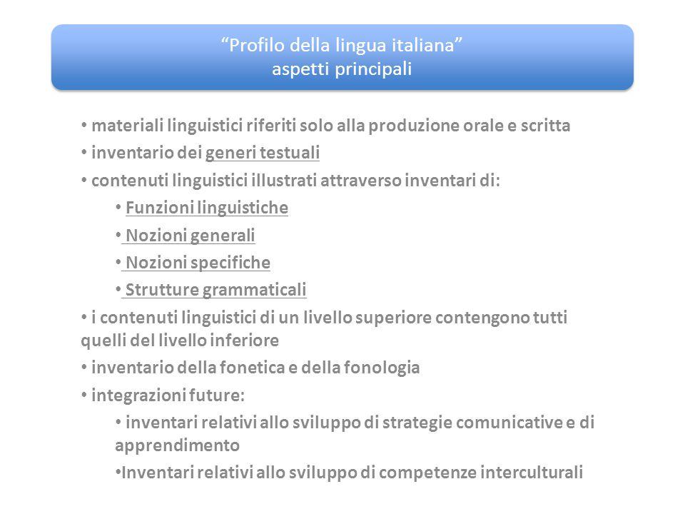 Profilo della lingua italiana aspetti principali
