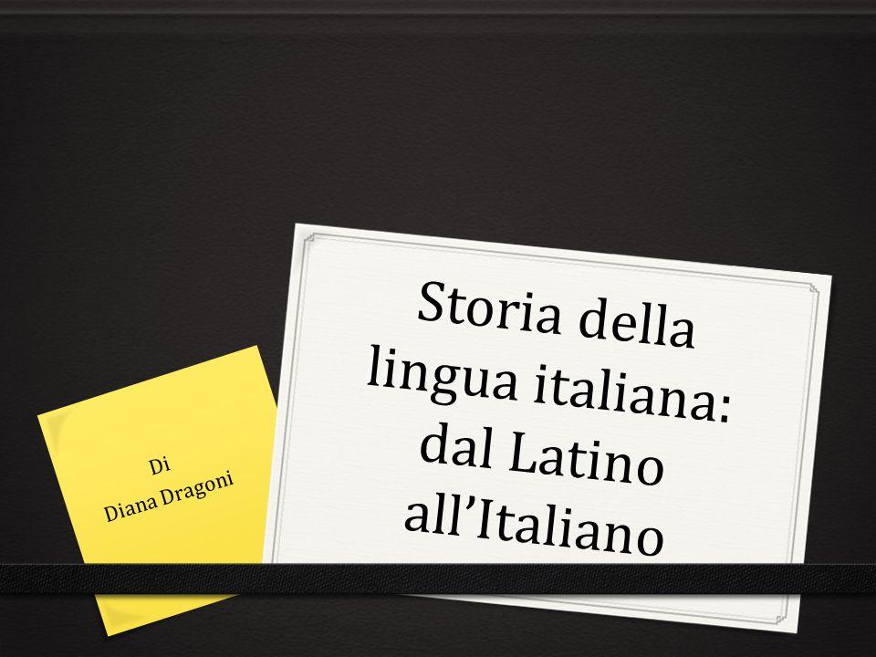 Storia della lingua italiana: dal Latino all'Italiano