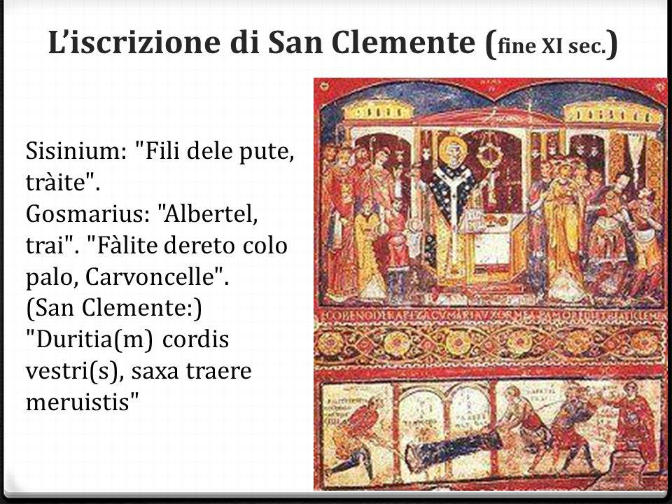 L'iscrizione di San Clemente (fine XI sec.)