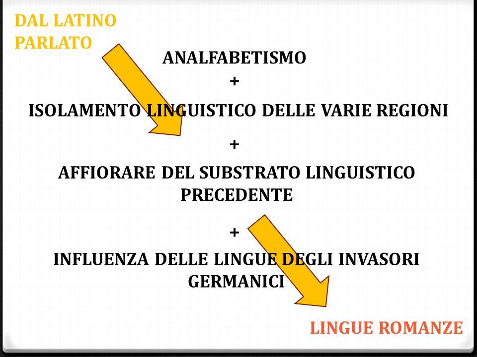 ISOLAMENTO LINGUISTICO DELLE VARIE REGIONI