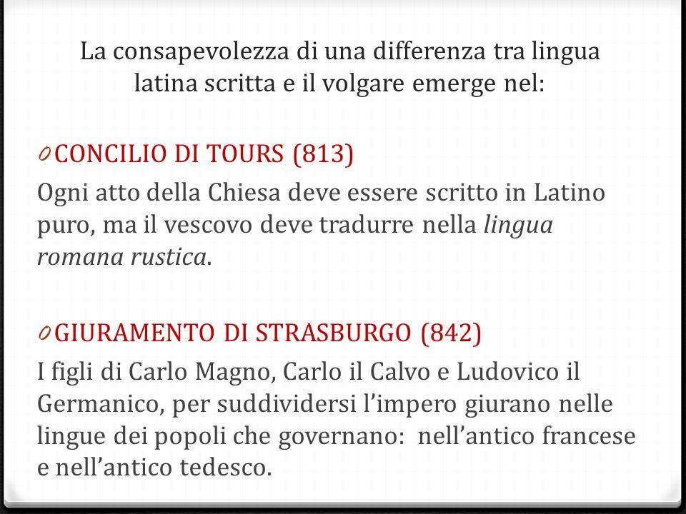 GIURAMENTO DI STRASBURGO (842)