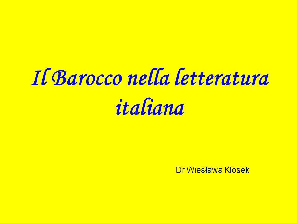 Il Barocco nella letteratura italiana