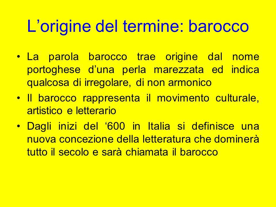 L'origine del termine: barocco