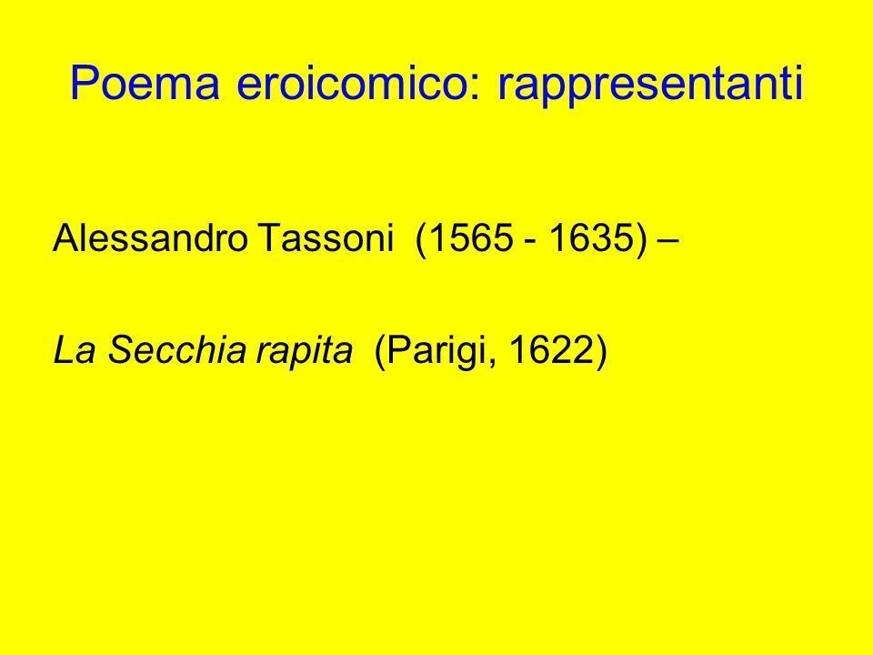 Poema eroicomico: rappresentanti