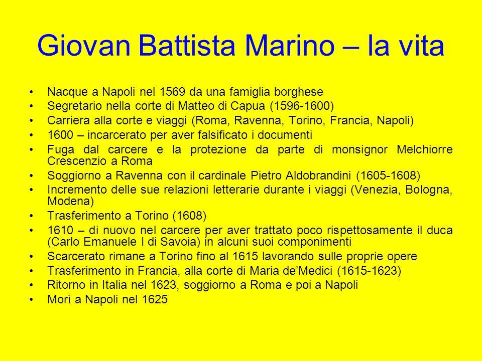 Giovan Battista Marino – la vita