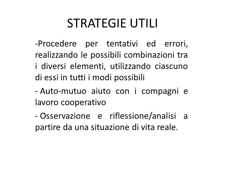 STRATEGIE UTILI