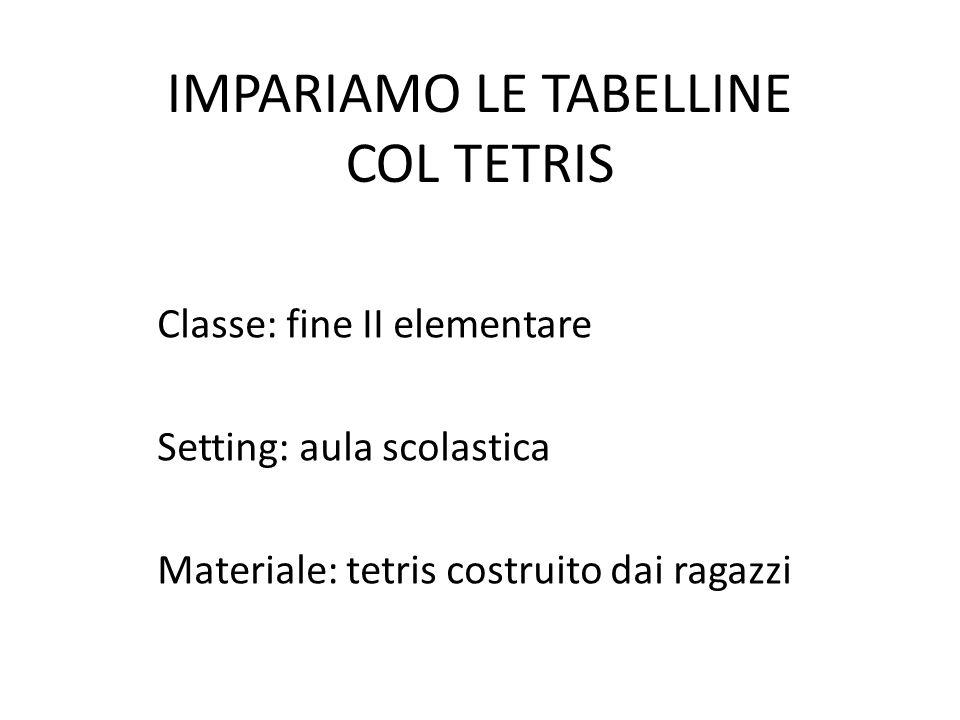 IMPARIAMO LE TABELLINE COL TETRIS