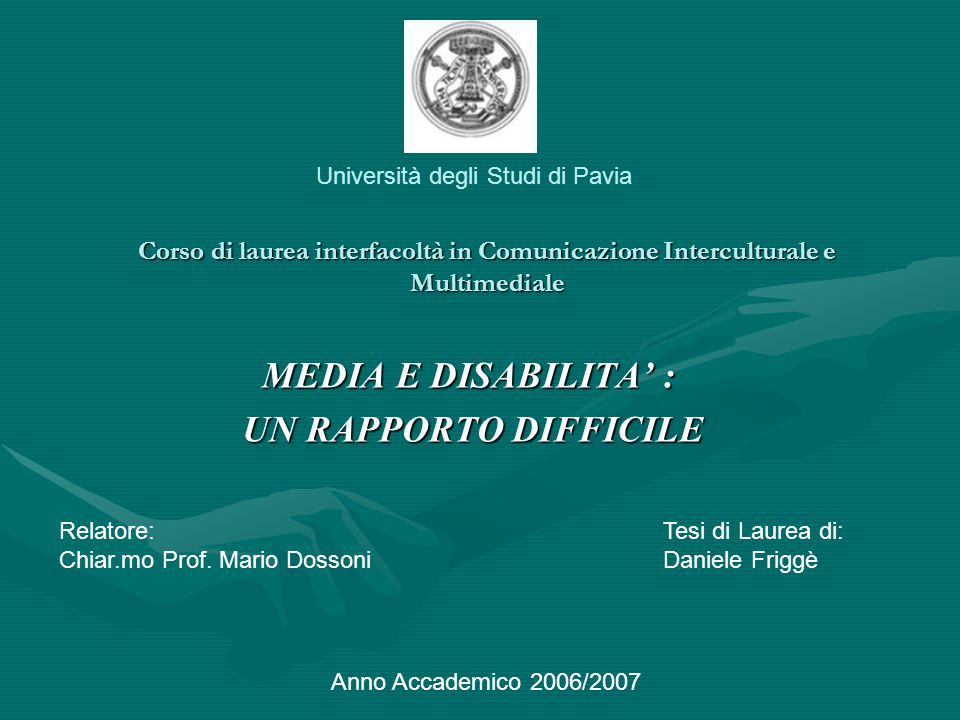 MEDIA E DISABILITA' : UN RAPPORTO DIFFICILE
