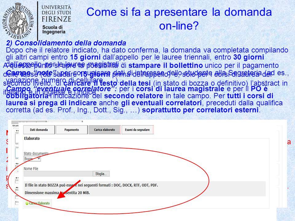 Come si fa a presentare la domanda on-line