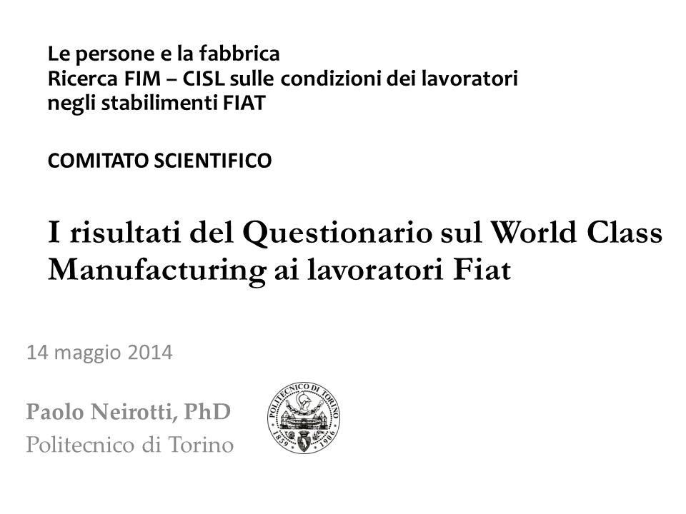 14 maggio 2014 Paolo Neirotti, PhD Politecnico di Torino