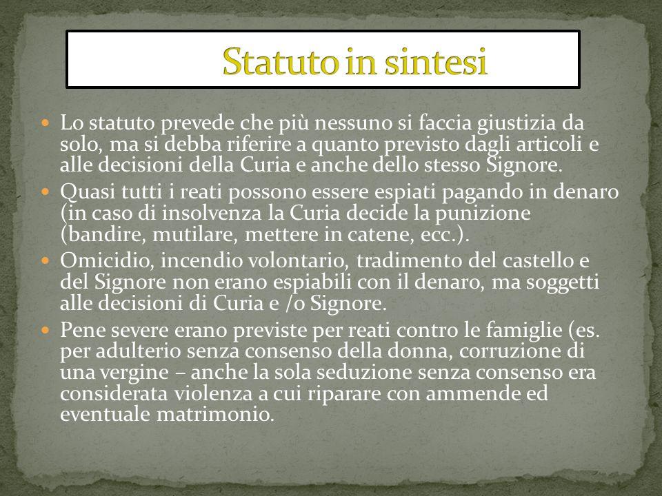 Statuto in sintesi