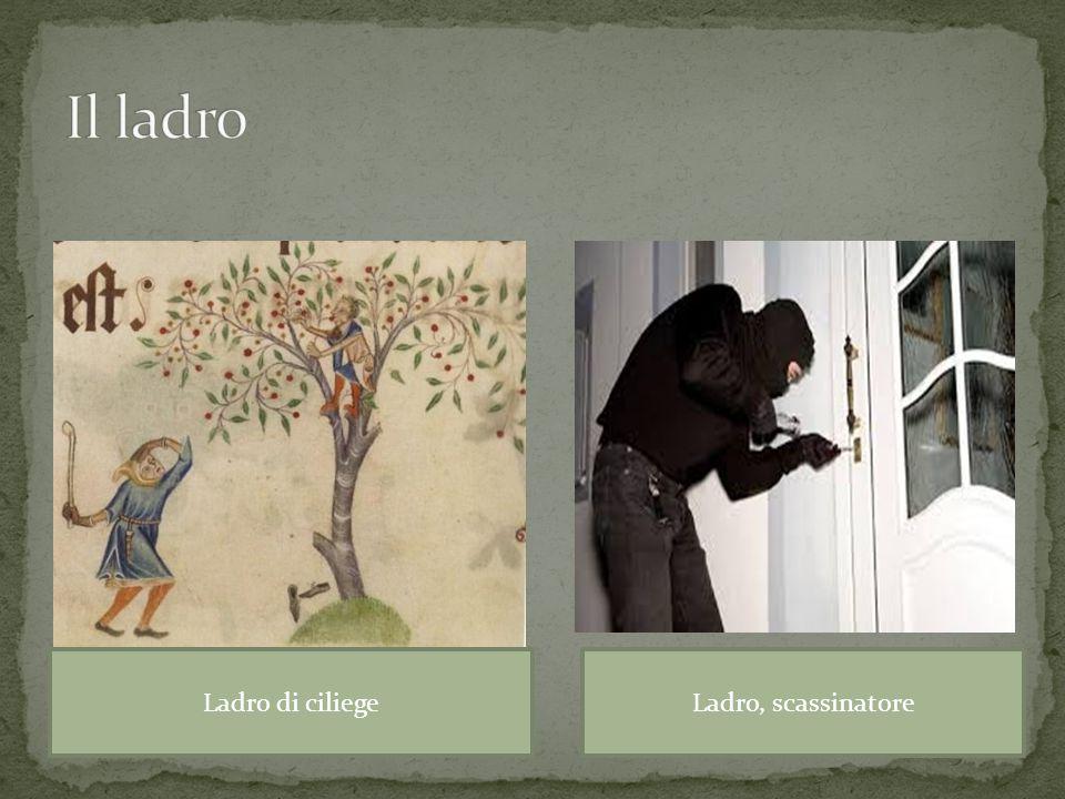 Il ladro Ladro di ciliege Ladro, scassinatore