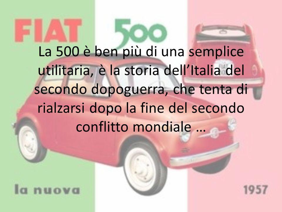La 500 è ben più di una semplice utilitaria, è la storia dell'Italia del secondo dopoguerra, che tenta di rialzarsi dopo la fine del secondo conflitto mondiale …