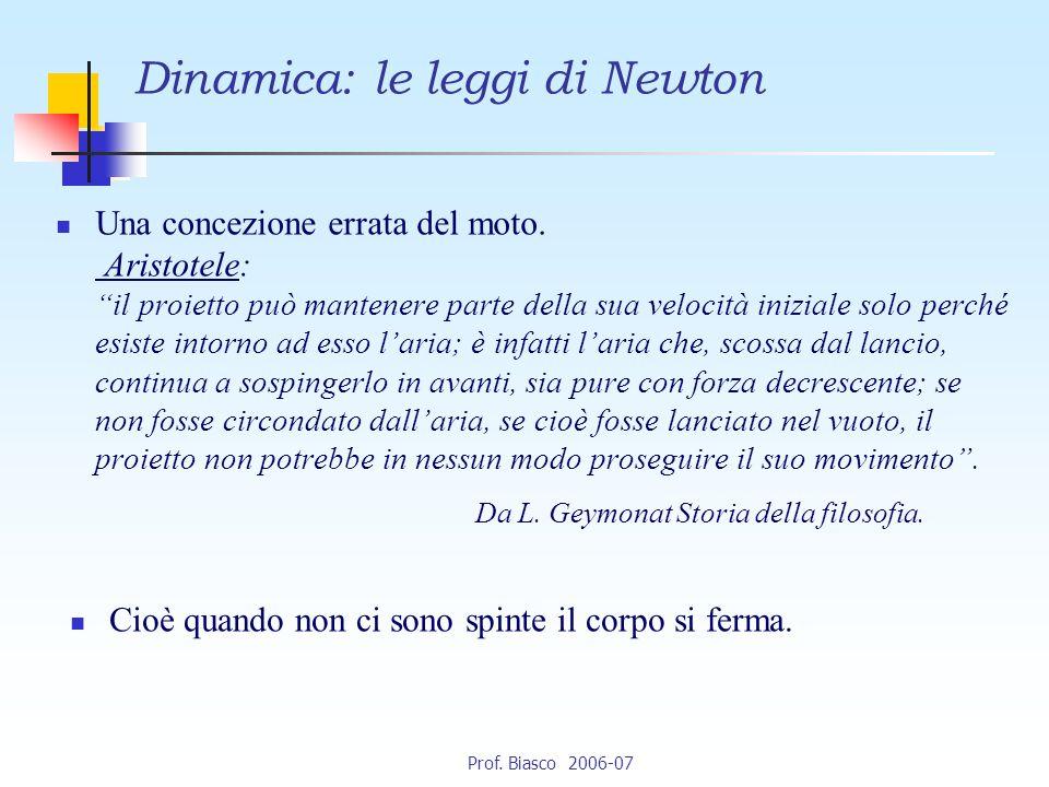 Dinamica: le leggi di Newton