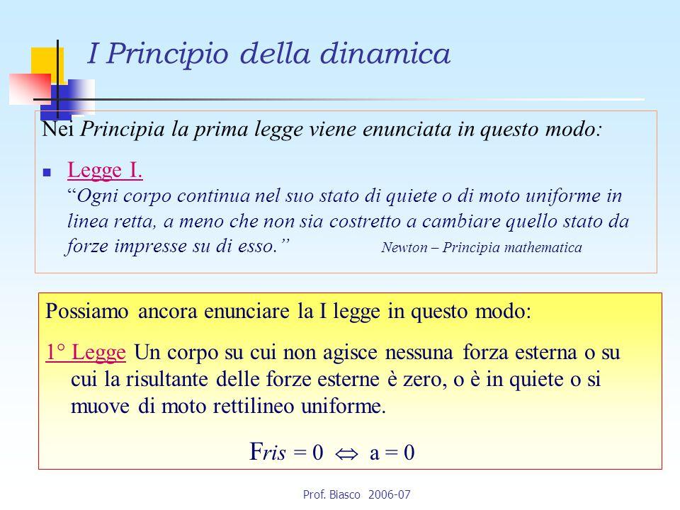 I Principio della dinamica