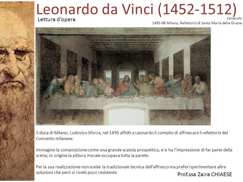 Leonardo da Vinci (1452-1512) Lettura d'opera