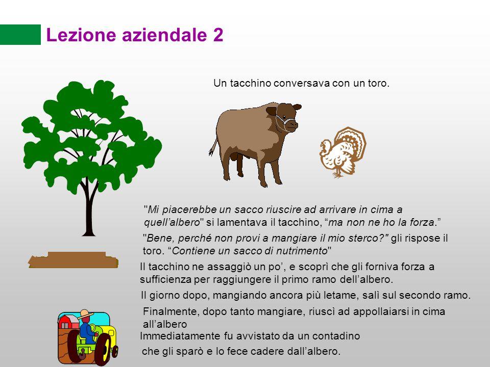 Lezione aziendale 2 Un tacchino conversava con un toro.
