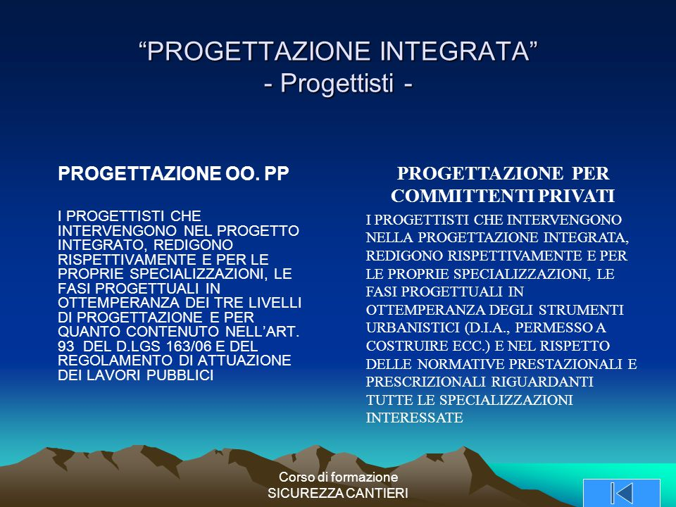 PROGETTAZIONE INTEGRATA - Progettisti -