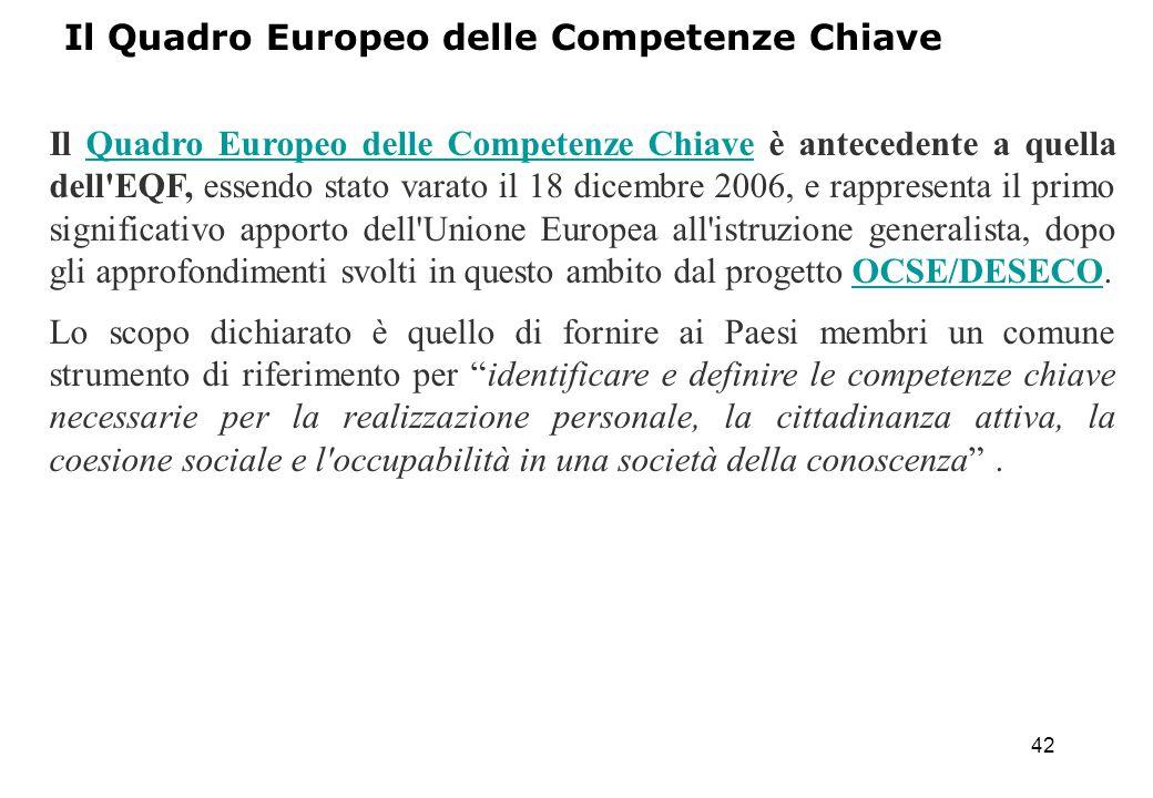 Il Quadro Europeo delle Competenze Chiave