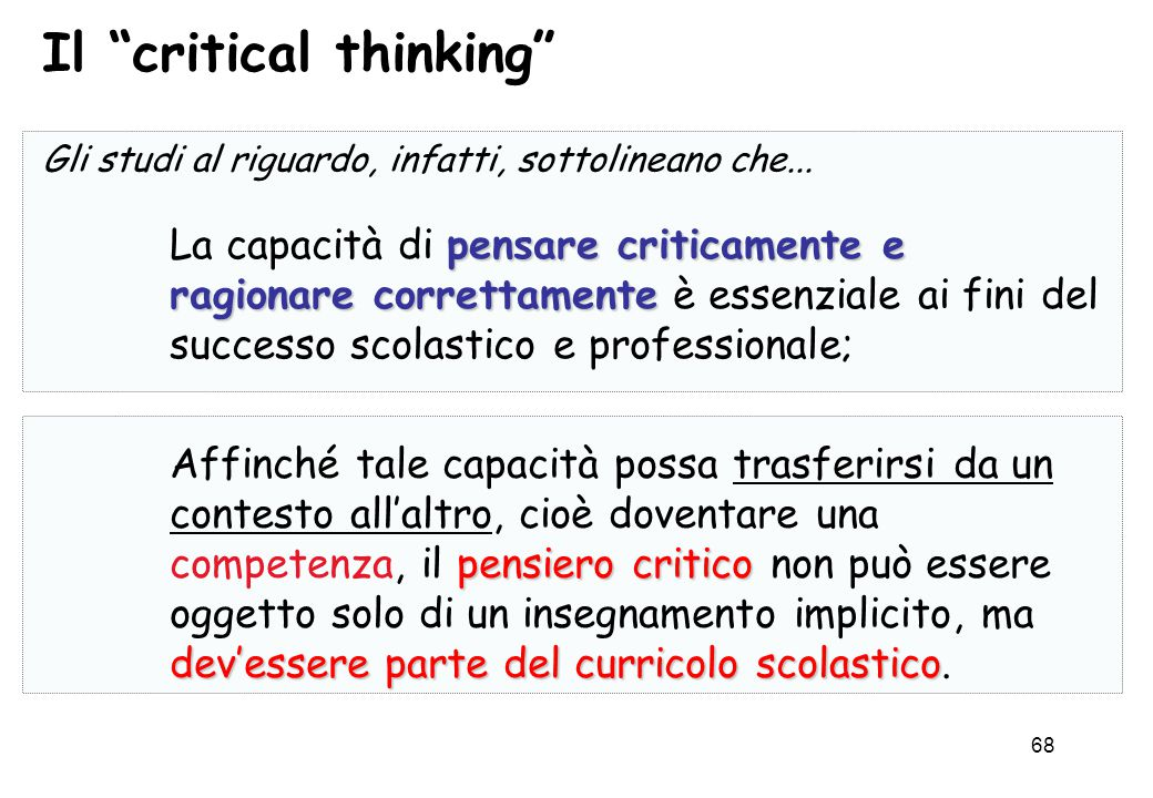 Il critical thinking