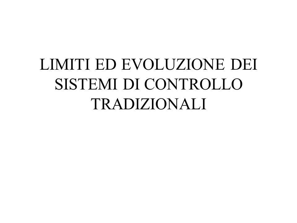 LIMITI ED EVOLUZIONE DEI SISTEMI DI CONTROLLO TRADIZIONALI
