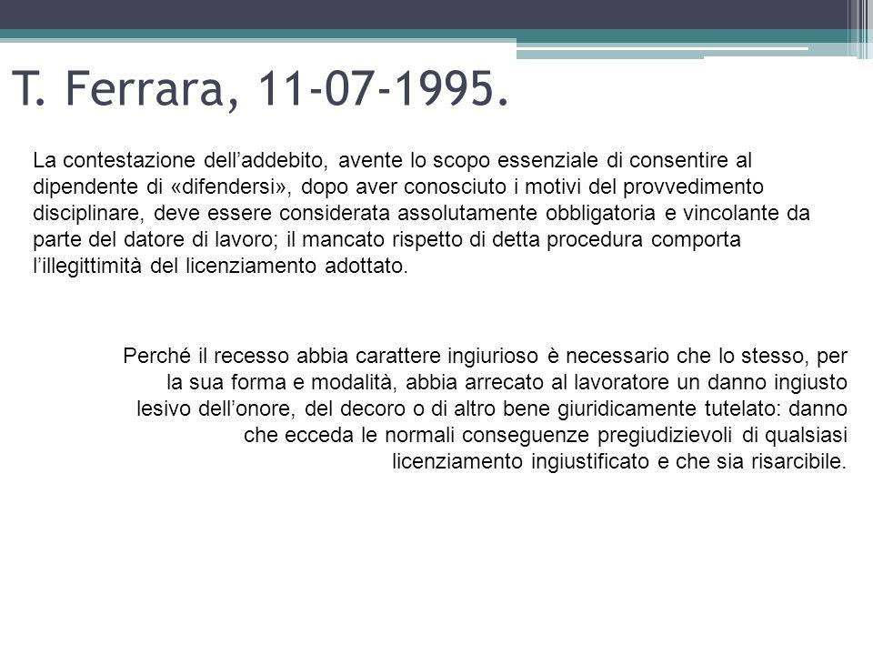 T. Ferrara, 11-07-1995.