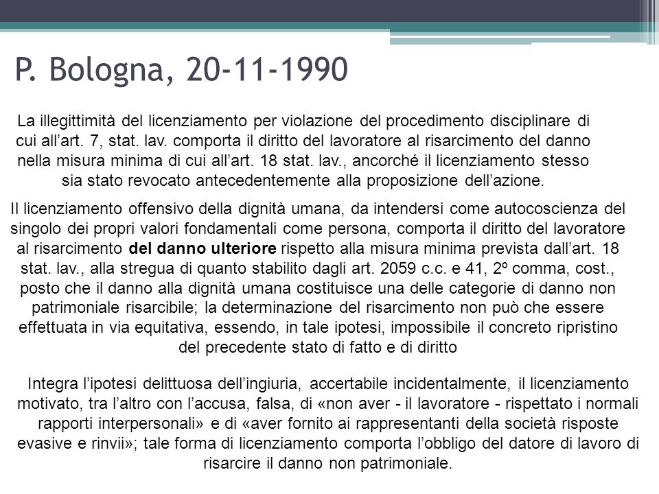 P. Bologna, 20-11-1990