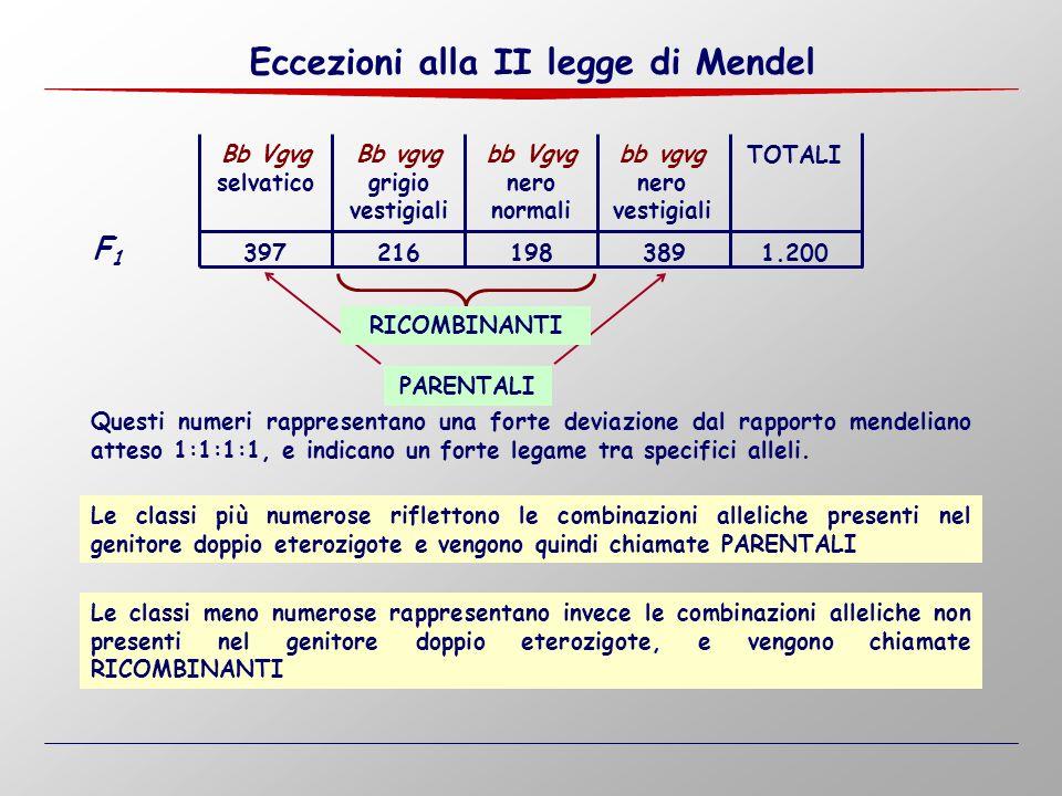 Eccezioni alla II legge di Mendel