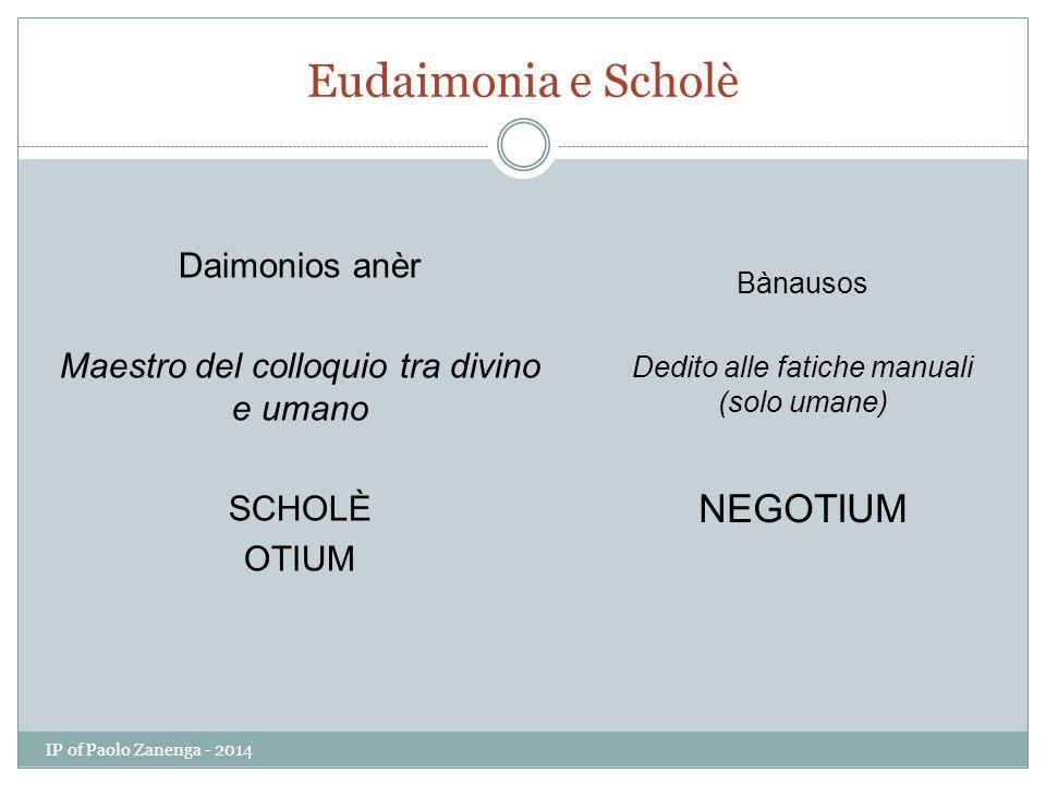 Eudaimonia e Scholè NEGOTIUM