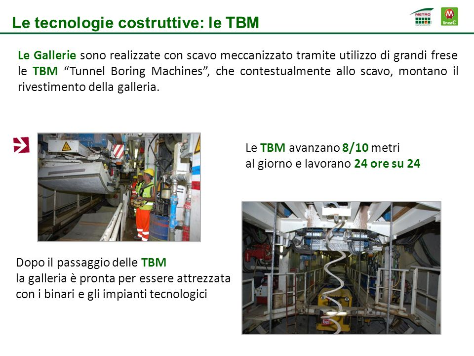 Le tecnologie costruttive: le TBM