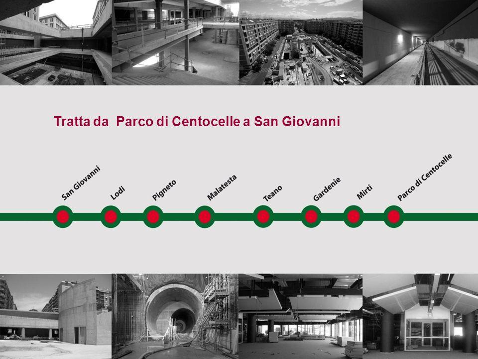 Tratta da Parco di Centocelle a San Giovanni