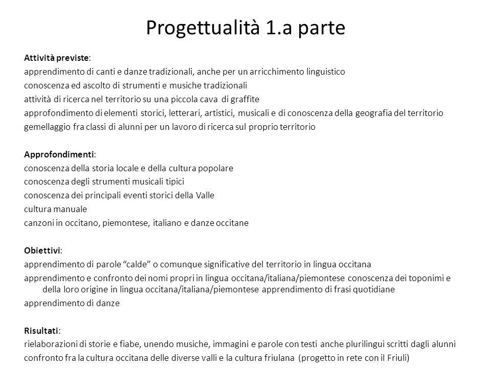 Progettualità 1.a parte