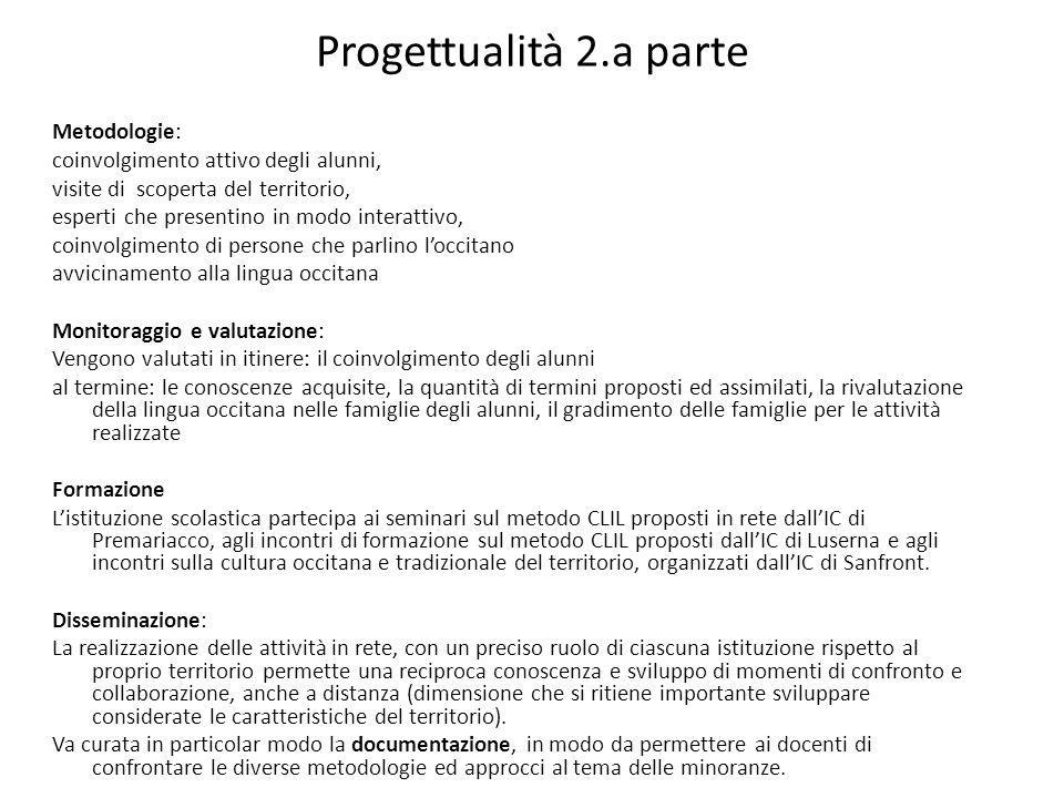 Progettualità 2.a parte