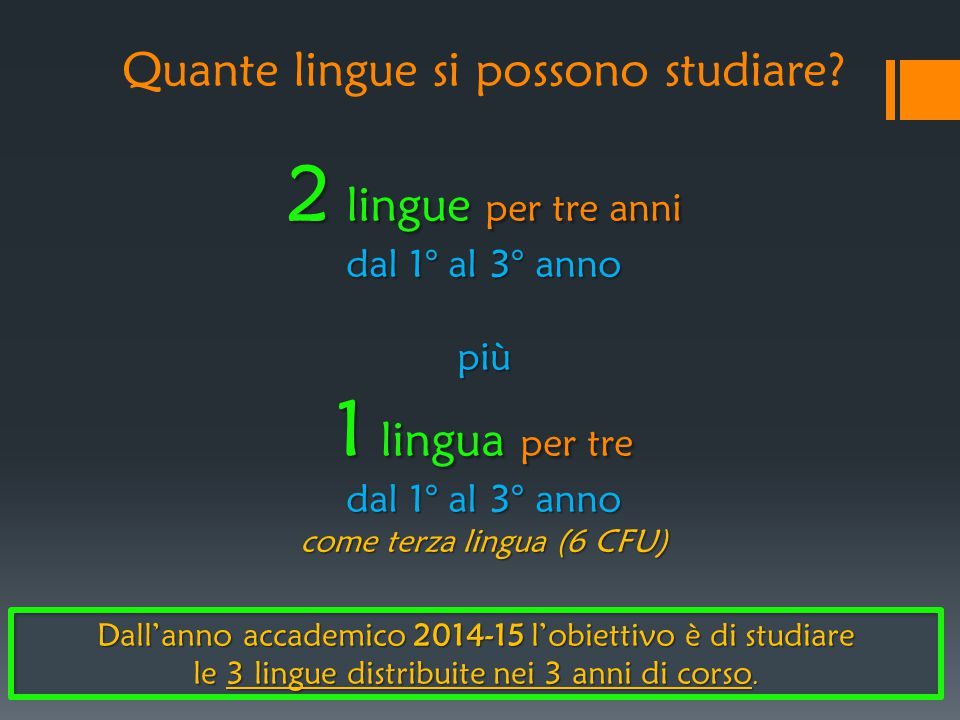 Quante lingue si possono studiare
