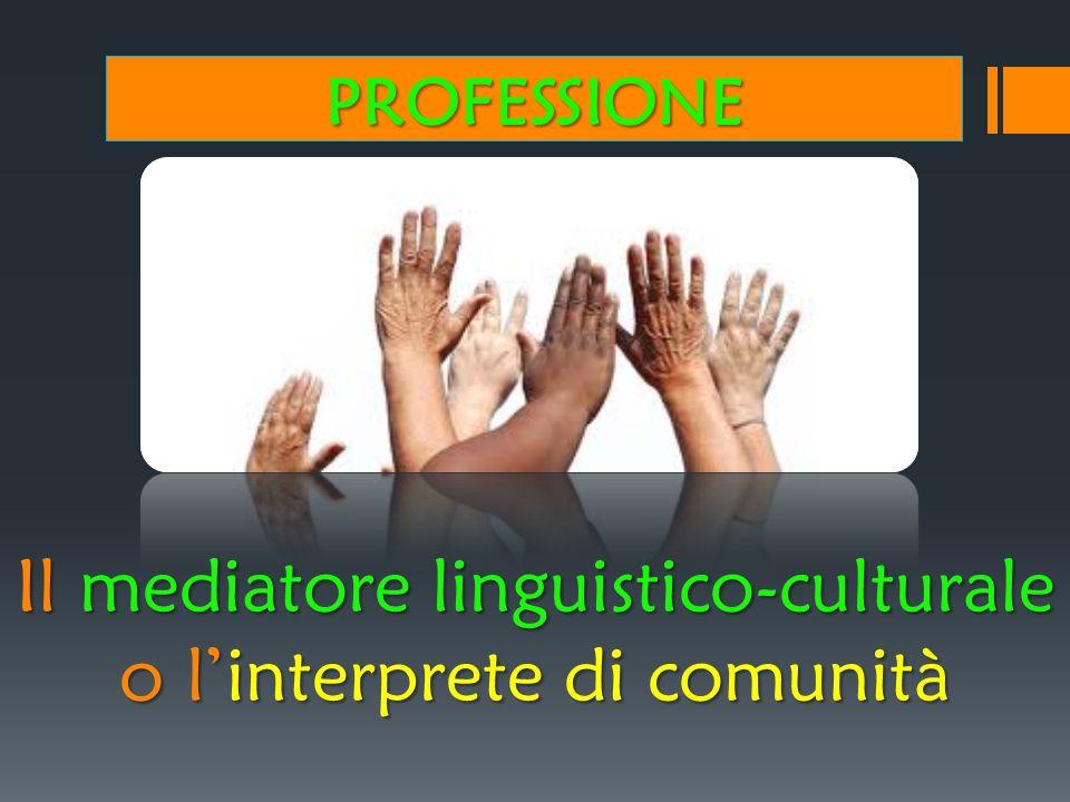 Il mediatore linguistico-culturale o l'interprete di comunità
