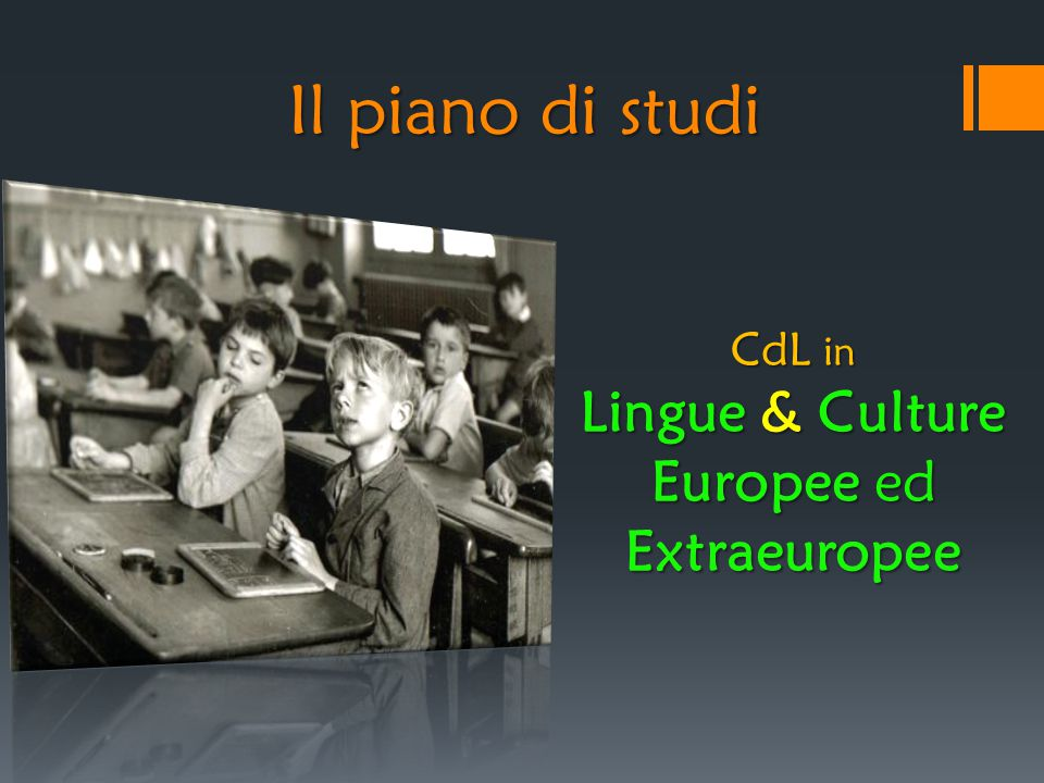 Lingue & Culture Europee ed Extraeuropee